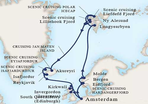 Spitsbergen Cruise - Map