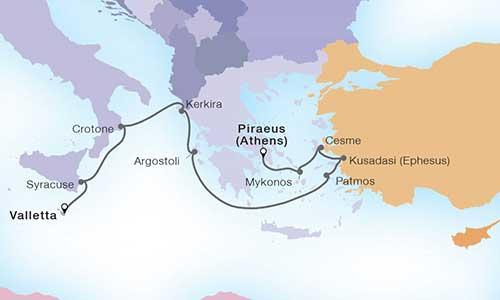 Aegean Aytumn map